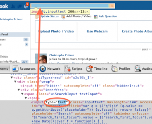 capture d'écran formulaire recherche FB