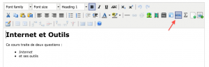 affichage du html en mode edit sur didel