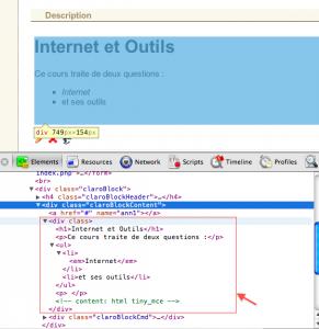 panneau dev de Chrome sur l'exemple didel