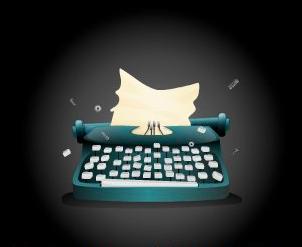 machine à écrire cassée